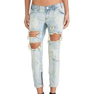 One Teaspoon Trashed Free Bird Ripped Jeans